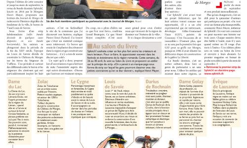 SPLOTCH! dans Le Journal de Morges du 28 avril 2017