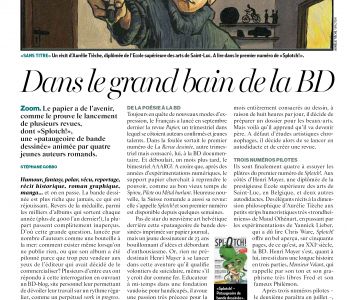 Splotch! dans l'Hebdo du 8 mai 2014