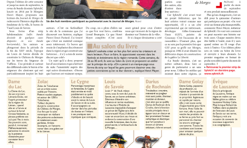 SPLOTCH! dans Le Journal de Morges du 28 avril 2017